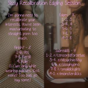 Sissy Recalibration Edging Session