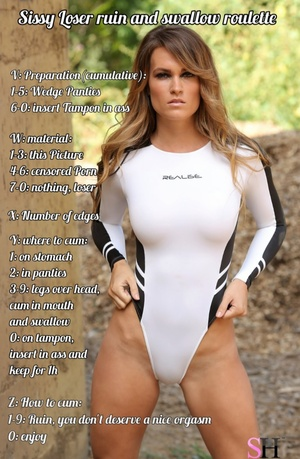 Sissy loser ruin and swallow roulette