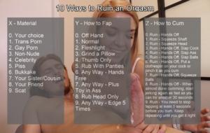 10 Ways to Ruin an Orgasm