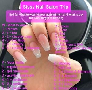 SISSY NAIL SALON TRIP