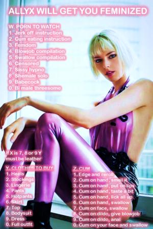 Allyx's feminization roulette
