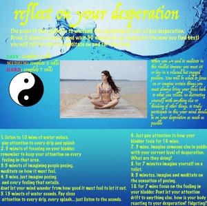 Meditate on your desperation.