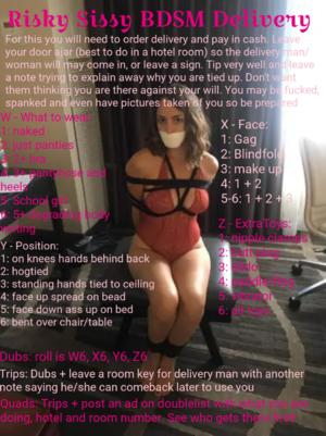 Risky Sissy BDSM Delivery