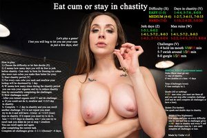 Eat cum or stay in chastity