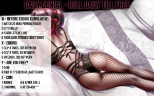 Daily denial edging tease torture torment ruin orgasm control