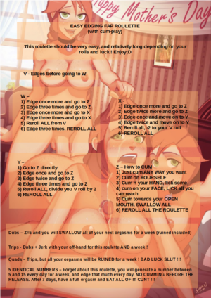 Easy Edging Fap Roulette (with cum-play)