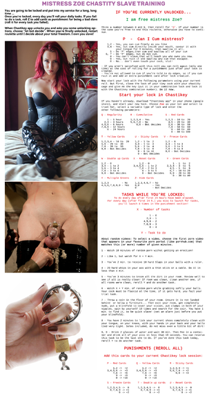 Mistress Zoe Chastity Slave Training