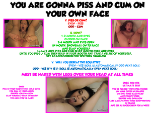 PISS AND CUM ON YOUR OWN FACE