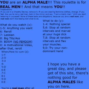 Roulette for ALPHA MALES