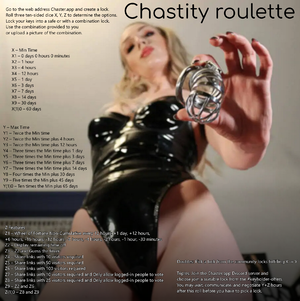 Chastity roulette
