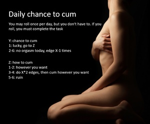 Daily chance to cum