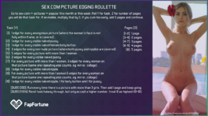 Picture edging roulette