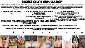 SECRET SELFIE HUMILIATION