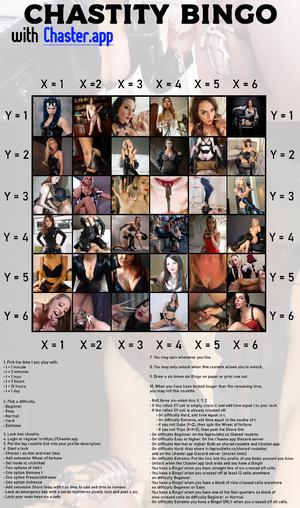 Chastity Bingo
