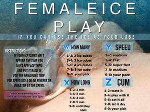Female ice play