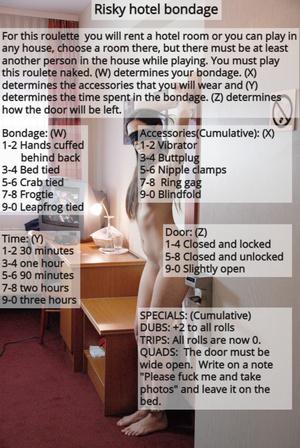 Risky hotel bondage