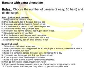 banana with extra chocolate