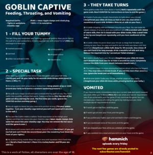 Goblin Captive - Feeding, Throating, and Vomiting