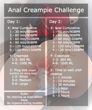 Anal Creampie Challenge