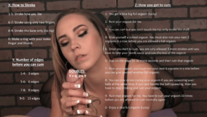 Edge and cum for Sasha