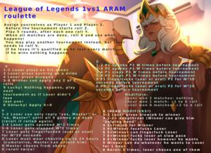 League of Legends ARAM 1vs1 Roulette