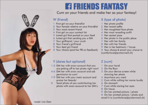 Facebook Friends Fantasy