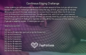 Continous Edging Challange