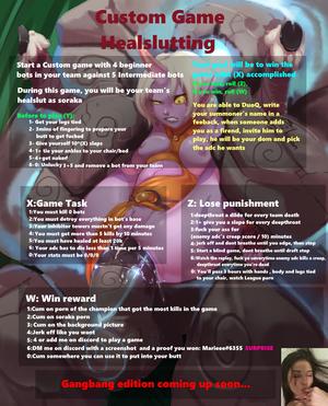 LoL- Custom game Healslutting roulette