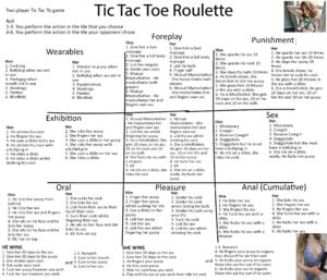 Tic Tac Toe Couples Roulette