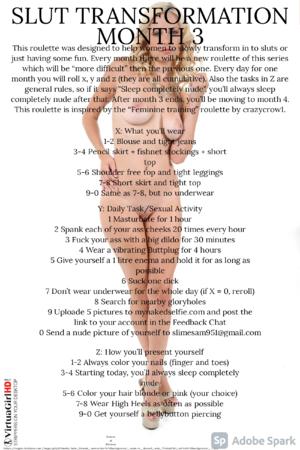 Slut Transformation Month 3