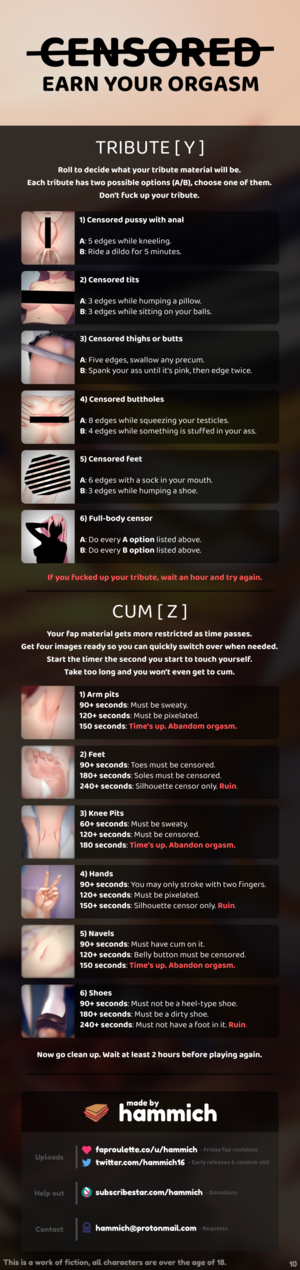 Censored - Earn your orgasm