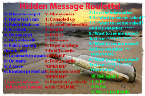 Hidden message Roulette for consensual exhibitionism!