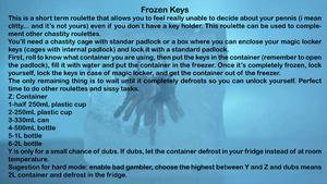 Frozen keys