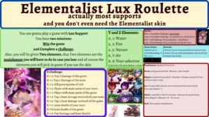 Elementalist Lux Support