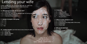 Lending your wife