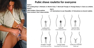 Pubic shave roulette for everyone