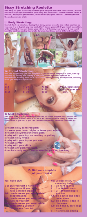 Sissy Stretching Roulette