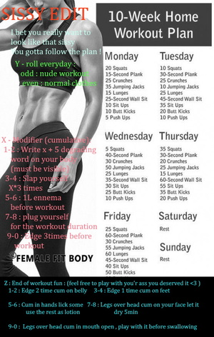 Sissy weekly workout edit
