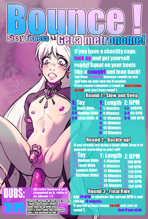 Bounce! Sissy Fitness! Anal Dildo Riding Challenge. Get a Metronome!
