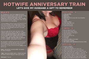 Hotwife Anniversary Train