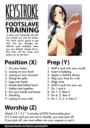 Footslave Training