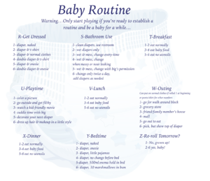 Baby Routine