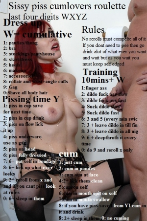 sissy piss cum lovers roulette