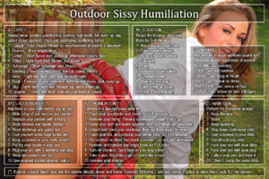 Outdoor Sissy Humiliation