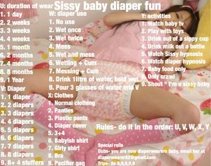 Sissy baby diaper fun
