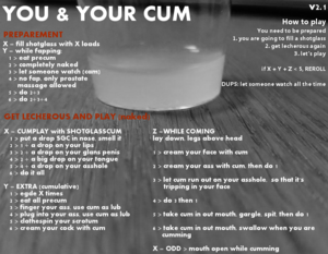YOU AND YOUR CUM