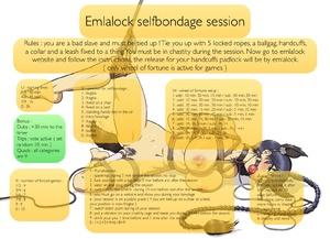 Emlalock selfbondage session