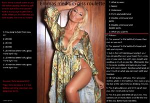Emmas medium piss roulette