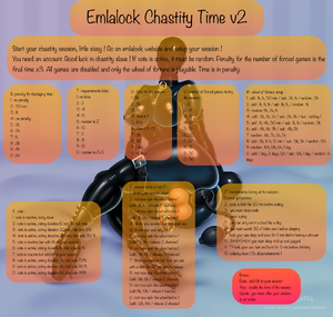 Emlalock chastity time v2