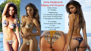 Emily Ratajkowski edging and ballbusting game